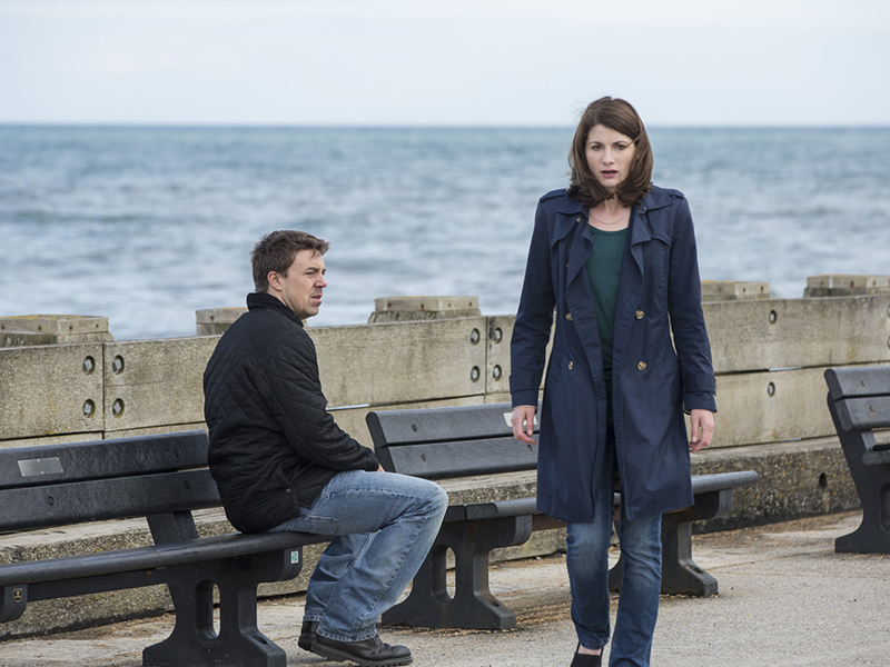 Broadchurch S3 Markand Beth Latimer Pier Colin Hutton 2017